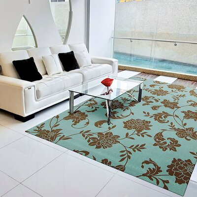 Nourison Home & Garden Light Blue & Brown Indoor/Outdoor Area Rug