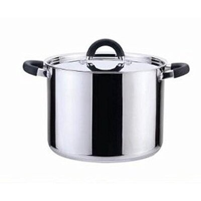 Stock Pot with Lid by YBM Home