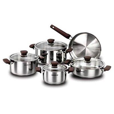 Korkmaz 9 Piece Cookware Set by YBM Home