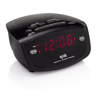 westclox sxe led alarm clock radio reviews wayfair. Black Bedroom Furniture Sets. Home Design Ideas