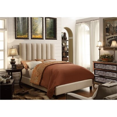 Isabel Queen Upholstered Euro Slat Platform Bed by Mulhouse Furniture