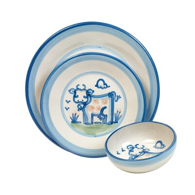 Cow 3 Piece Dinnerware Set by HadleyHouseCo