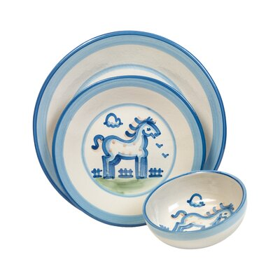 Horse 3 Piece Dinnerware Set by HadleyHouseCo
