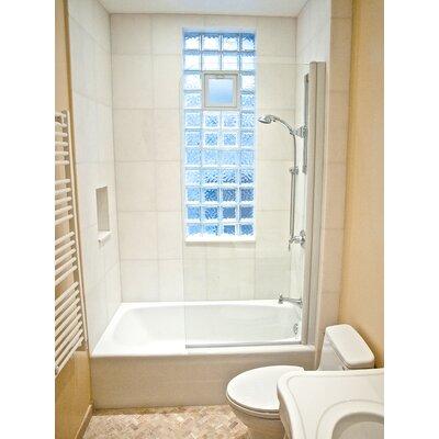 "60"" x 30"" Semi-Frameless Pivot Bathtub Shower Screen Product Photo"