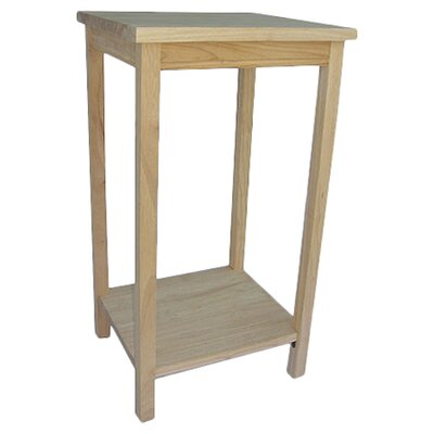 International Concepts Unfinished Wood Tall Solid Wood End