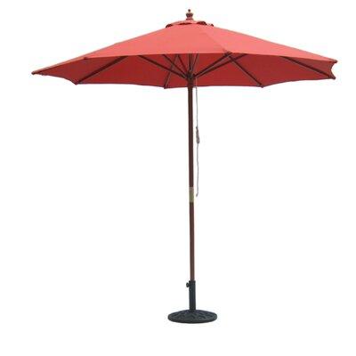 International Concepts 9' Wooden Pole Market Umbrella
