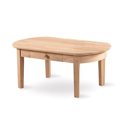 Unfinished Wood Philips Coffee Table by International Concepts