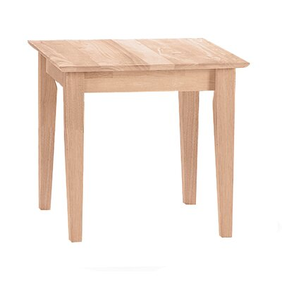 Unfinished Wood End Table by International Concepts