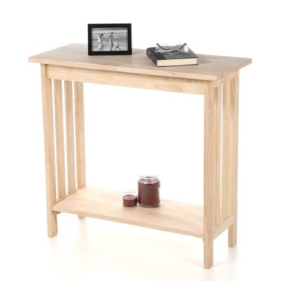 International Concepts Unfinished Mission Console Table