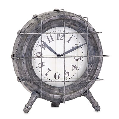 Ella Elaine Metal Table Clock by August Grove