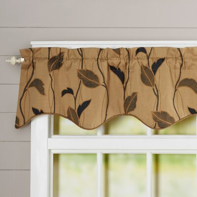 """Large Scale Leaf and Vine Lined Duchess Filler 50"""" Curtain Valance Product Photo"""