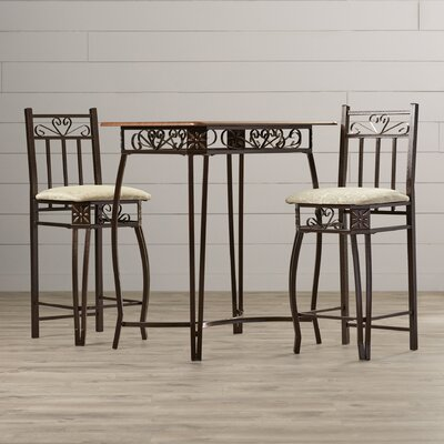 3 Piece Counter Height Pub Table Set by August Grove