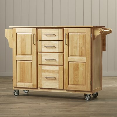 Luisa Kitchen Island with Wooden Top Product Photo