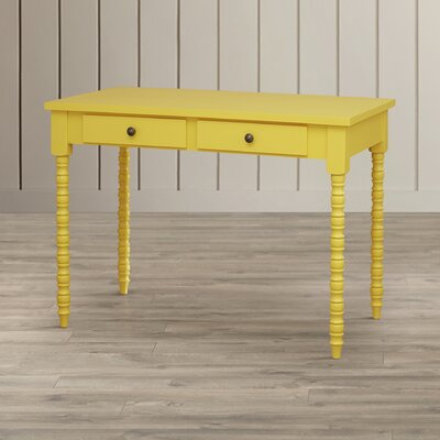 Beachcrest Home Oliver Writing Desk with Helix Legs (Multiple Colors)