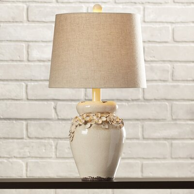 Trent austin design chamberlin 25 h table lamp with for Lamp shades austin