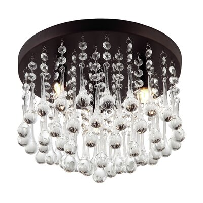 Mezzaluna 3 Light Flush Mount Product Photo