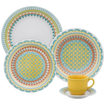 Floral Daily 12 Piece Dinnerware Set by Oxford Porcelain