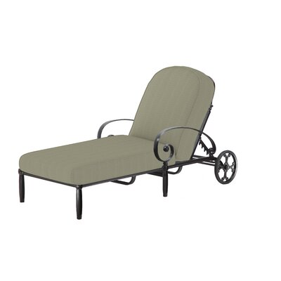 Bellagio Chaise Lounge with Cushion by Gensun Casual