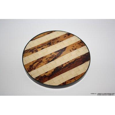 Banig/Banana Bark Round Coaster by DestiDesign