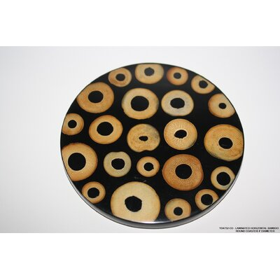 Horizontal Bamboo Round Coaster by DestiDesign