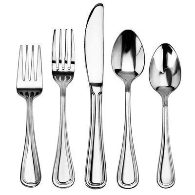 Slimline 60 Piece Stainless Steel Flatware Set by New Star Foodservice