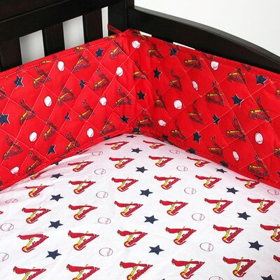 MLB St Louis Cardinals Crib Bumper Baseball Baby Bedding by Store 51