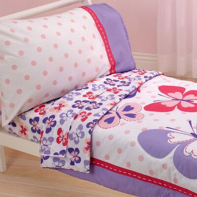 Butterfly Comforter Sheets 4 Piece Toddler Bedding Set by Store 51