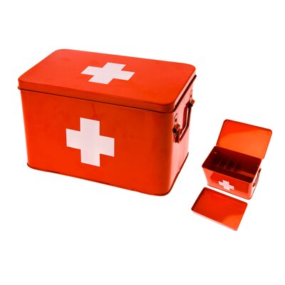 Cross Metal Medicine Storage Box by Present Time