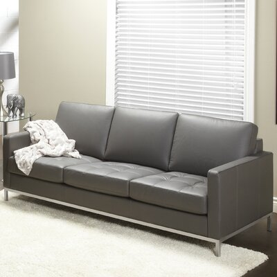 Regency Top Grain Leather Sofa by Lind Furniture