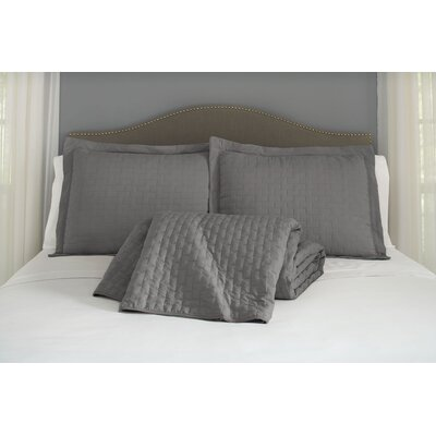 Montauk Madison 120 GSM Microfiber LuxuryQuilted Blanket by Jennifer Adams Home