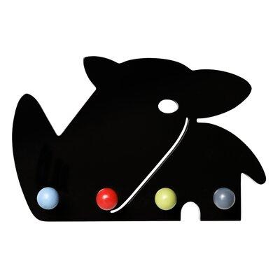 Otto Black Rhino Coat Rack by Franck Fischer