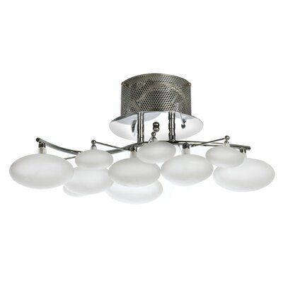 8 Light Semi-Flush Mount Product Photo