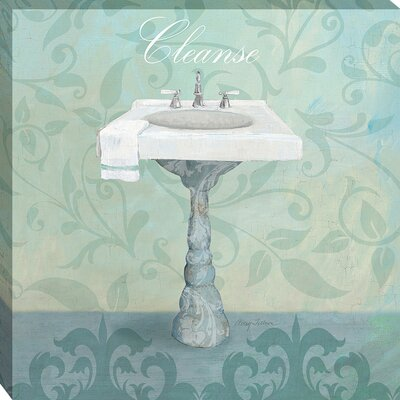 Damask Bath Sink by Avery Tillmon Graphic Art on Wrapped Canvas by MidwestArtFrame