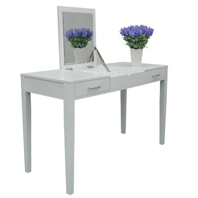 Homcom modern dressing vanity with mirror and storage for Modern make up table