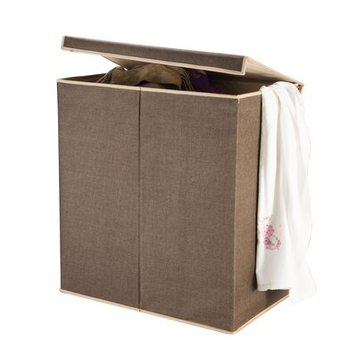 2 Compartment Laundry Hamper with Magnetic Lid by Villacera