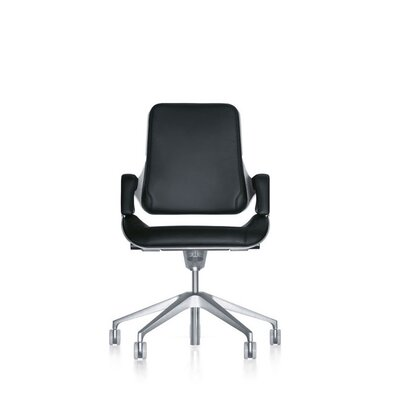 Mid-Back Leather Conference Chair by Interstuhl