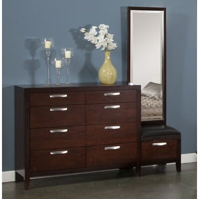 Vista 8 Drawer Dresser with Mirror by Fairfax Home Collections