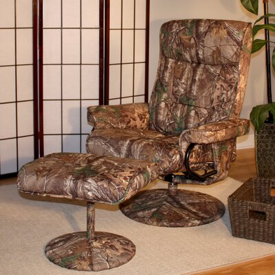 Realtree© Relaxzen Heated and Reclining Massage Chair with Ottoman by Comfort Products