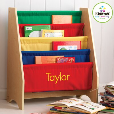 "KidKraft Personalized Primary Sling 28"" Book Display"
