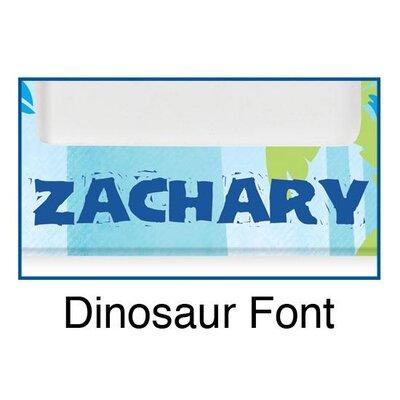 KidKraft Personalized Dinosaur Blue Frame