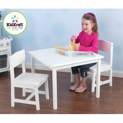 KidKraft Personalized Aspen Kids' 3 Piece Table and Chair Set