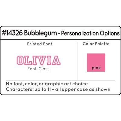 KidKraft Personalized Medium Locker in Bubblegum