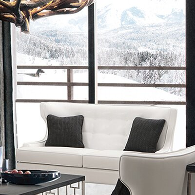 Skyline Leather Loveseat by Armen Living