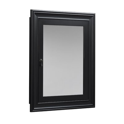 Traditional Solid Wood Framed Medicine Cabinet in Antique Black Product Photo
