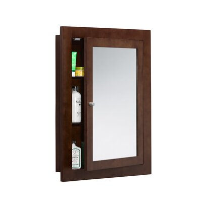"Neo-Classic 24"" x 32"" Solid Wood Framed Medicine Cabinet in Dark Cherry Product Photo"