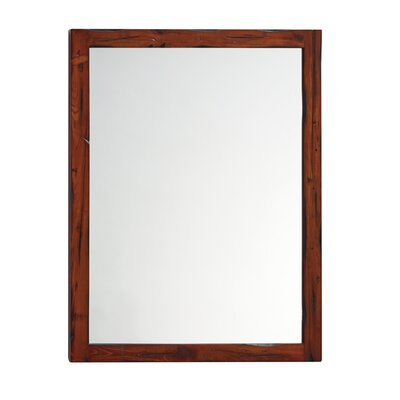 ronbow solid wood framed bathroom mirror in rustic pine reviews