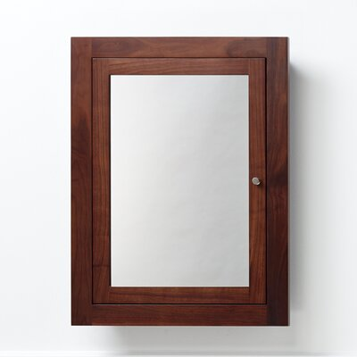 "Neo-Classic 24"" x 32"" Solid Wood Framed Medicine Cabinet in American Walnut Product Photo"