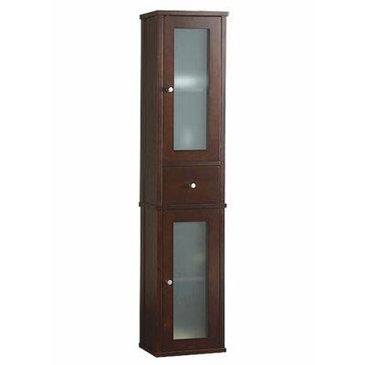 ronbow tall 55 bathroom wall cabinet in dark cherry