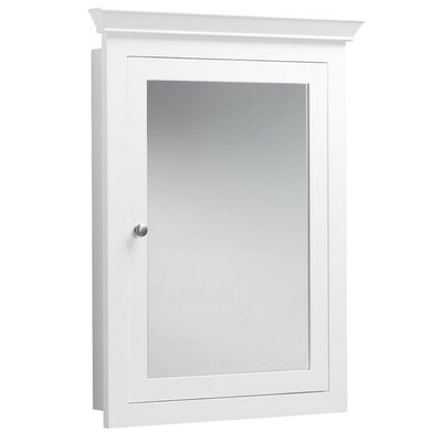 Ronbow Transitional Solid Wood Framed Medicine Cabinet in White