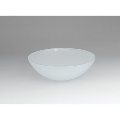 Ronbow Round Tempered Glass Vessel Bathroom Sink in Obscure Crystal